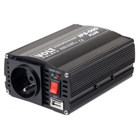 PRZETWORNICA IPS-500 PLUS 12V / 230V 350/500 W