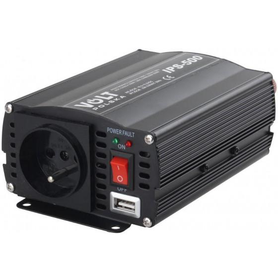 PRZETWORNICA IPS-500 12V / 230V 350/500 W