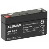 Akumulator ACUMAX 6V 1.3AH serii AM AM 1,3-6