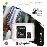 Karta pamięci Kingston Canvas Select Plus 64GB 100MB microSDXC CL10 UHS-I Card + SD Adapter