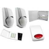 Alarm Satel CA-4 LED, 2xLC-100 PI, syg. zew. SPL-5010R