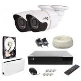 Zestaw monitoringu IP EASYCAM 2 kamery FULL HD 1080P REJESTRATOR HDD 1TB