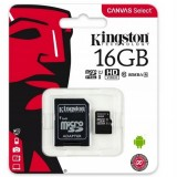 Karta pamięci Kingston Canvas Select 16GB microSDHC  CL10 UHS-I Card + SD Adapter