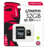 Karta pamięci Kingston Canvas Select 32GB microSDHC  CL10 UHS-I Card + SD Adapter