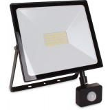 Naświetlacz LED 50W kwadratowy + czujnik ruchu PIR Światło Białe Neutralne