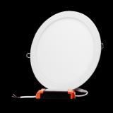 Plafon LED okrągły podtynkowy aluminiowa obudowa 24W 3000K ciepła barwa