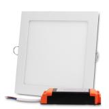 Plafon LED kwadratowy podtynkowy aluminiowa obudowa 18W 3000K (ciepły biały)