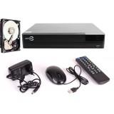 ZESTAW EASYCAM AHD CVI TVI ANALOG IP REJESTRATOR EC-8ch + DYSK HDD 500GB