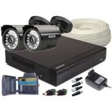 Zestaw 4w1, 2x Kamera HD/IR20, Rejestrator 4ch