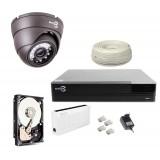 Zestaw monitoringu IP EASYCAM 1 kamera HD 720P REJESTRATOR HDD 1TB