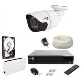 Zestaw monitoringu IP EASYCAM 1 kamera FULL HD 1080P REJESTRATOR HDD 1TB