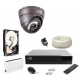 Zestaw monitoringu IP EASCYAM 1X kamera FULL HD 1080P REJESTRATOR HDD 1TB