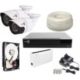 Zestaw monitoringu EASYCAM 2 kamery IP HD 720P REJESTRATOR HDD 1TB