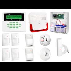 Alarm Satel CA-10 LCD, 2xLuna, 4xAQUA PLUS, TSD-1, FD-1, DG-1 TCM, syg. zew. SD-6000