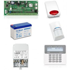 Zestaw alarmowy SATEL PERFECTA 16, Klawiatura LCD, 1 czujnik ruchu, sygnalizator zewnętrzny, powiadomienie GSM