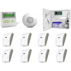 Zestaw alarmowy SATEL Integra 32 LCD, 8 czujek, sygnalizator wewnętrzny
