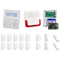 Zestaw alarmowy SATEL Integra 64, Klawiatura sensoryczna, 18 czujek, sygnalizator zewnętrzny, powiadomienie SMS