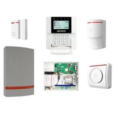Zestaw Jablotron bezprzewodowy centra JA-100KR, manipulator, sygnalizator, 4 czujniki pir, LAN , GSM.